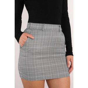 Tobi Skirts - Plaid Attitude Grey Mini Skirt